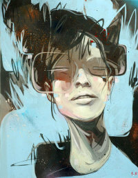 'JACKIE NO' BY RUSS MILLS (sold)