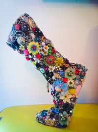 'BEJEWELLED MOTHER BOOT' BY LUCIE SMAILES