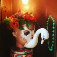 'HARLEQUIN SWAN LAMP' BY LUCIE SMAILES