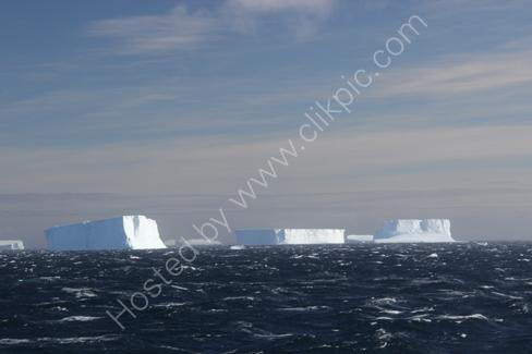 Tabular Icebergs in Antarctic Sound