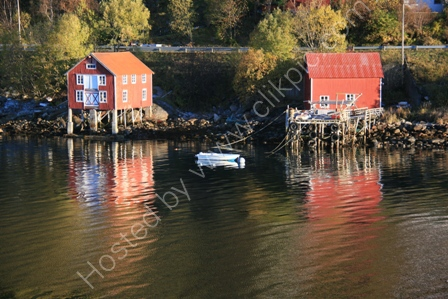 Boathouses near Ornes