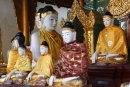 Buddhas at Shwedagon Pagoda, Yangon