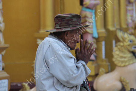 Burmese Woman Praying