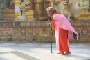 Elderly Buddhist Nun, Yangon