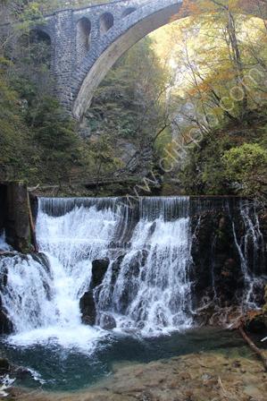 Sum Waterfall in the Vintgar Gorge