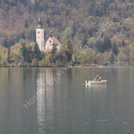 Fisherman on Lake Bled