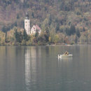 Fisherman on Lake Bled