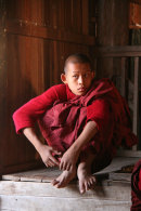 Novice Monk in Monastery