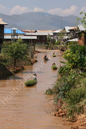 Loaded Canoes in Ywama Village