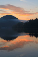 Sunrise over Lake Bled