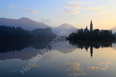 Early Morning Reflections in Lake Bled