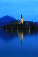 Church, Lake Bled at Dawn