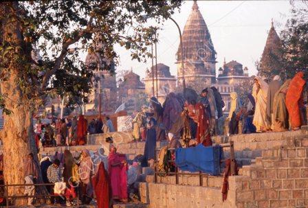 Pilgrims at Dawn,India
