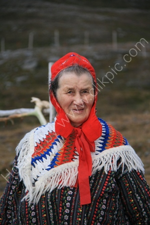 Sami Woman in Arctic Norway