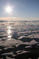 Icefield under Midnight Sun