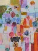 flowers and fields by the hghway 90 x 60cm SOLD