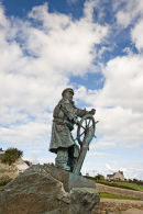 Statue of Dick Evans at Moelfre on the Island of Anglesey (sculpture by Sam Holland)