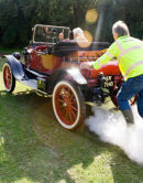 Steam Car at Classic car show