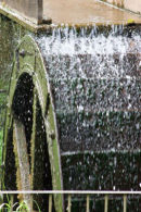 Working Water wheel - at the Old Tweed Mill at Dartington
