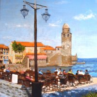 Collioure - acrylics on canvas board