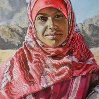 Bedouin girl -  pastels