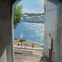 Cadaques in the footsteps of Dali - acrylics