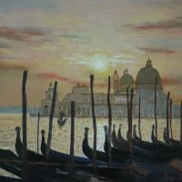 Venice towards Salute - pastels