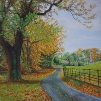 Autumn Wrea Head Hall Scarborough - pastels