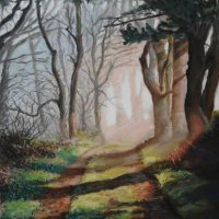 woodland walk - pastels