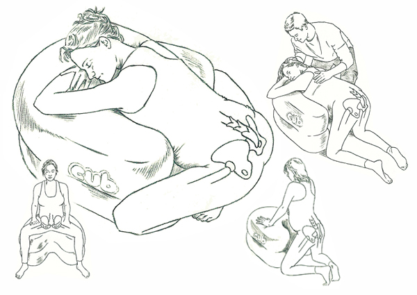 Pencil line illustrations: the 'Cub' cushion