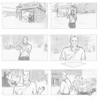 From a series of storyboards for Intuit, London