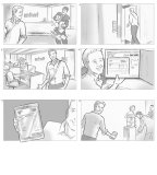 From a series of storyboards for Intuit, London. II