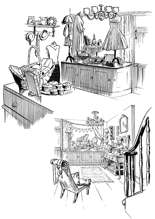 'Mouse to Minx' dip pen illustrations