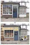 Shop mock-up rendering using Photoshop