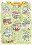 Wedding 'Table Plan' illustration