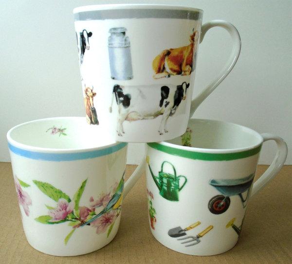 3 mugs from Waitrose's 'Dorset' range