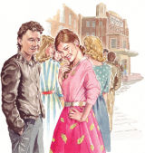 illustration for 50's themed book