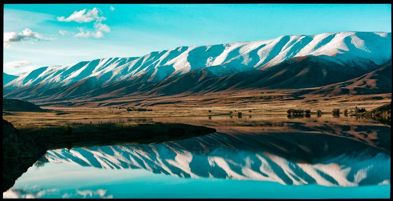 Falls Daqm Reflection of the Hawkdun range