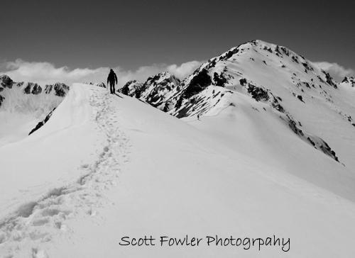 Mount Aitken top ridge before top.