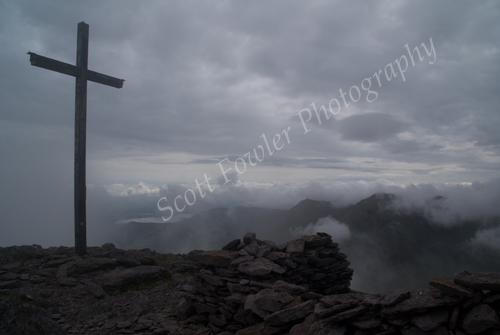 Top of Ireland's highest mountain