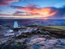 Winter sunrise on Win Hill
