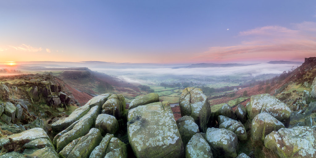 Sunrise from Curbar Edge