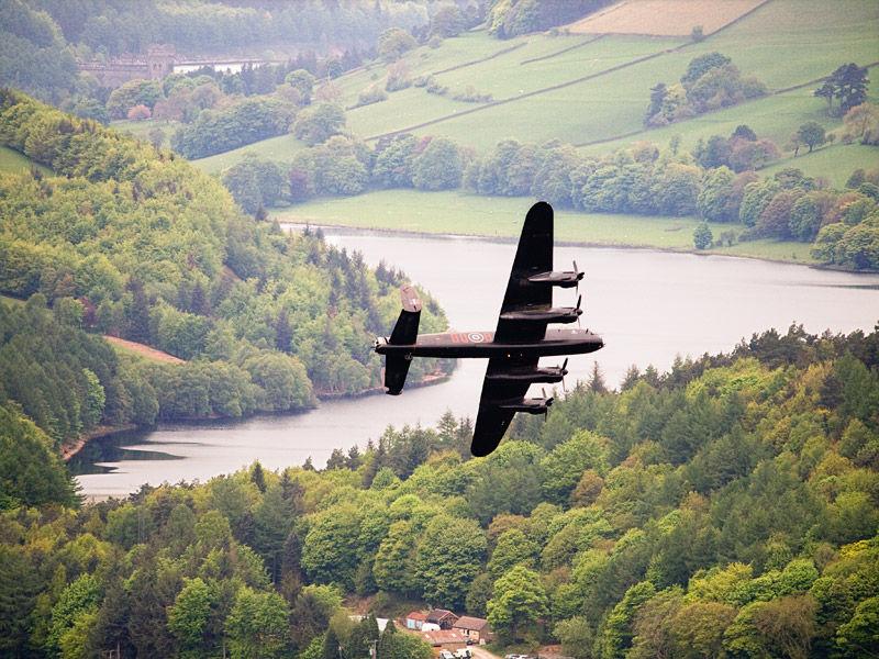 Lancaster over Ladybower
