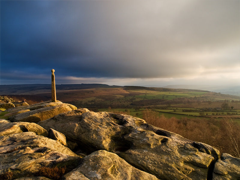 Nelson's Monument on Birchin Edge Derbyshire