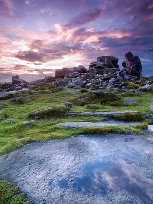 Sunset on Over Owler Tor