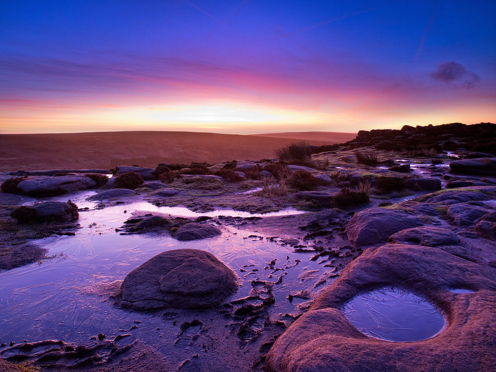 Pre-Dawn light at Higger Tor