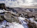 Millstones in winter