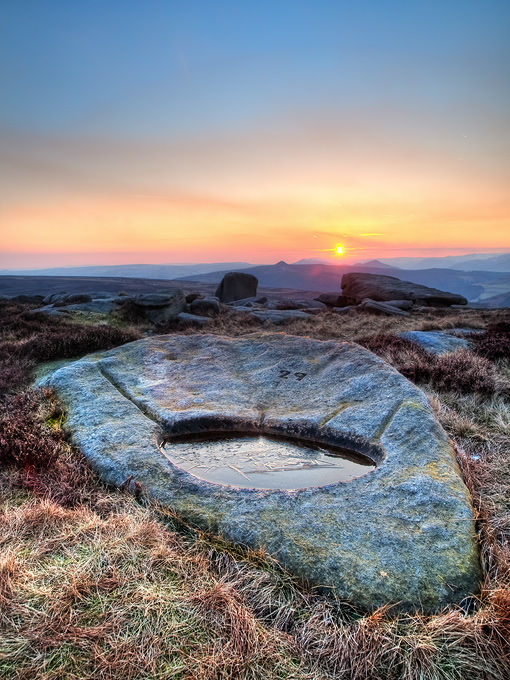 Stanage sunset