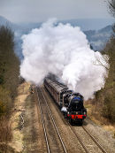 Steam train in the Hope Valley