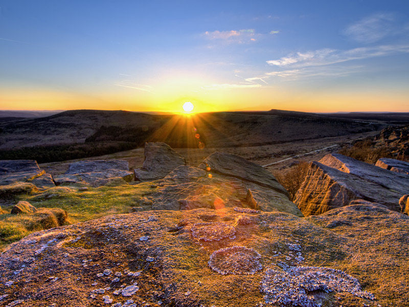 Burbage sunset